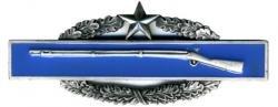 Army Combat Infantry Badge 2nd Award Oxidized Finish - Regulation