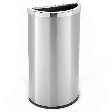 Precision Series 8 Gallon Half Moon Trash Can