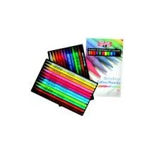 Koh-I-Noor Non-Toxic Woodless Colored Pencil Set - Assorted Color, Set - 24