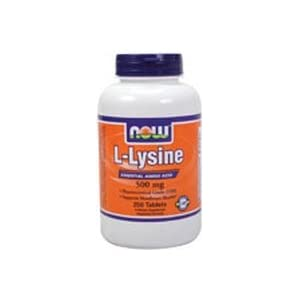NOW Foods L Lysine 500mg, 250 capsules