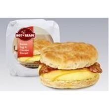 Advance Pierre Hot N Ready Bacon Egg and Cheese Biscuit Sandwich, 5.6 Ounce - 12 per case. (Best Cheese Biscuits)