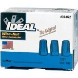 ideal wire nuts - Ideal 30-072 300 Volt Thermoplastic Twist On Wire Connector, Blue, Pack of 100