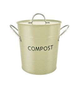 Eddingtons Compost Pail, Sage Green (Bucket With Tin Lid)