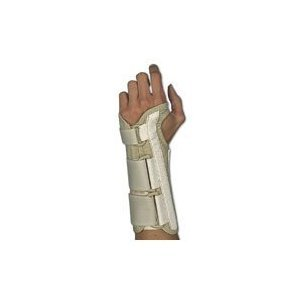 Sportaid, Wrist Brace Deluxe, Right, Beige - Large