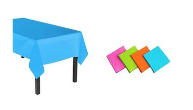 Party Essentials Heavy Duty Plastic Table Cover Neon