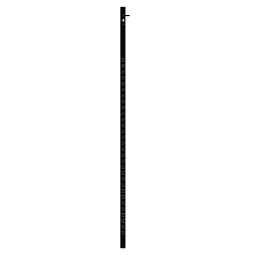 Quest Manufacturing 6' PDU 30 Front 120V/20A Outlets with 15' Cord, Aluminium, Black (VPS-3006)