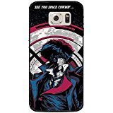 Price comparison product image Samsung Galaxy S7 Original Cartoon Case Cover,Cool Spike Spiegel With Cigarette Fantasy TV Cartoon Cowboy Bebop Phone Case for Samsung Galaxy S7 Absorbing DIY Cover Shell