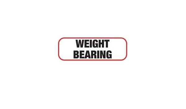 Weight Bearing Medical X-Ray Label 1//2H X 1-1//2W Roll of 1,000 Unlaminated