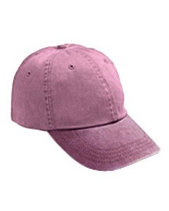 Anvil Solid Low Profile Pigment Dyed Twill Cap (Raspberry) (ONE) (Pigment Dyed Cap Solid Twill)