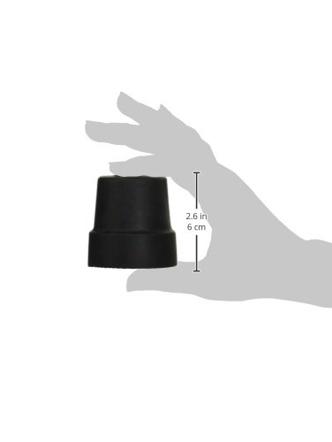 """1/2"""" Tips for Small Base Cane, Black- Box contains 1 pair"""