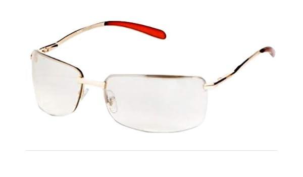 7cdd8f39b46ea Amazon.com  Gift Depot TM Half Frame Clear   Light Brown Tint Lens Silver    Gold Metal Side Sun-Glasses (Gold)  Toys   Games