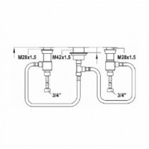 KWC Roman Tub Rough-In Valve Z.535.580.931