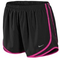"""Nike Running Women's Tempo Track 3.5"""" Shorts - Small - Black/Pink Foil"""