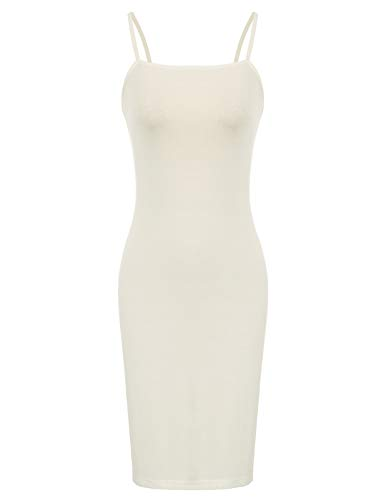 a0aed51b94a 10 · Kate Kasin Women Lightweight Spaghetti Strap Nightgown Long Maxi Slips  Beige