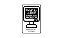 myspace-junkie-parking-only-sign-car-wall-decal-sticker-vinyl-black-glossy-20-max-length