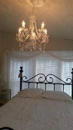 The Original Gypsy Color 5 Light Medium Crystal Chandelier H21'' W19'', White Metal Frame with Clear Acrylic Crystals (Better Than Glass) by Gypsy Color (Image #5)