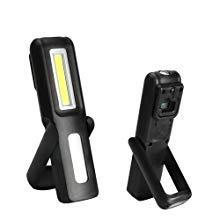 Three trees Lampada da lavoro portatile portatile wireless portatile LED COB con gancio appeso, rack magnetici, (black)