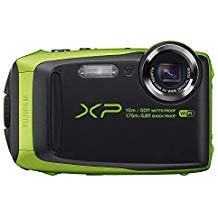 Fujifilm FinePix XP125 Shock & Waterproof Wi-Fi Digital Camera, Black/Lime (Certified Refurbished)