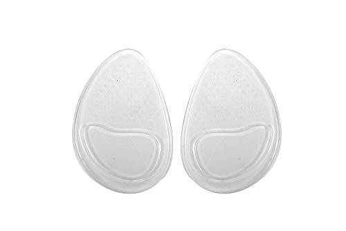 Apoio e Proteção Plantar para salto alto silicone, Impec, Branco, Único, pacote de 2