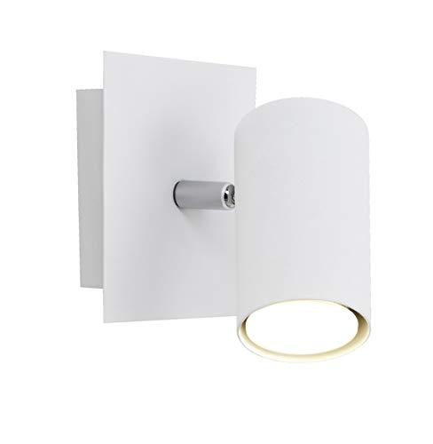 Trio Lighting Marley Lámpara de Techo con Una Luz GU10, Blanco, 12 cm