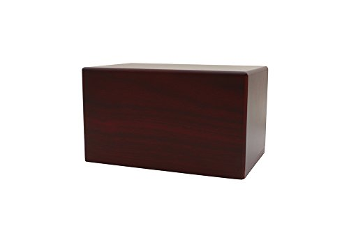 Near & Dear Pet Memorials MDF Box Pet Urn, 25 Cubic Inch, Cherry Finish from Near & Dear Pet Memorials