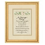 10x12'' Marriage Blessing Frame Wood/Glass/Ribbon/ Cardstock 10'' x 12'' H