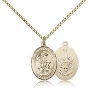 14kt Gold Guardian Angel / Navy Medal (Medal Angel Navy)