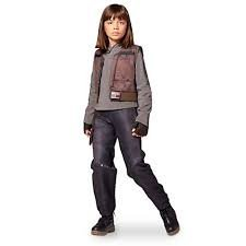 DISNEY STORE STAR WARS ROGUE ONE SGT JYN ERSO COSTUME ~ GIRLS (Adi Earring)