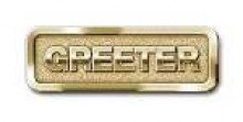 Badge-Greeter-Magnetic-Brass (Greeter Badge)