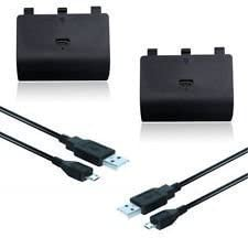GamerPro Xbox One 2400mAh Rechargeable battery Pack + Free 2 Meter Long Play and Charge Lead cable by Xbox one: Amazon.es: Videojuegos
