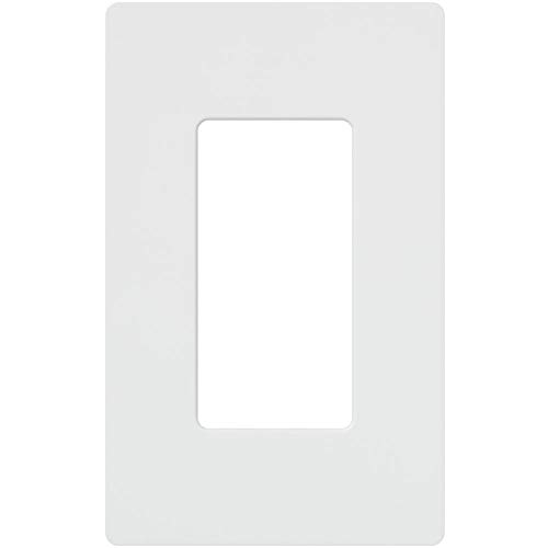 Lutron CW-1-WH 1-Gang Claro Screw-Less Wall Plate, White (20 Pack) by Lutron (Image #1)