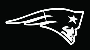 (Patriots White Decal Vinyl Sticker 4.5 x)