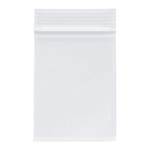 "Plymor Zipper Reclosable Plastic Bags, 2 Mil, 3"" x 4"" (Case of 1000)"