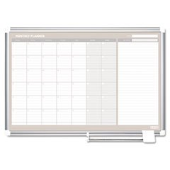 -- MasterVision Monthly Planner, 48x36, Silver Frame