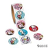 Peanuts Snoopy Valentine's Day Stickers (1 roll, 100 stickers) by Peanuts
