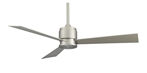 Fanimation Zonix - 54 inch - Satin Nickel with Satin Nickel Blades and Wall Control - FP4630SN - Satin Bronze Ceiling Fan
