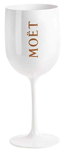 Moet Chandon Ice Imperial White Acrylic Champagne Glass by Moet (Moet Champagne Glass)