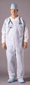 McKesson 82151200 Entrust Performance Fluid-Resistant Coverall, Elastic Cuffs, X-Large, White (Pack of 25)