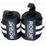 Rogue Fitness Wrist Wraps | Available in Multiple Colors (Black/White, 18'')