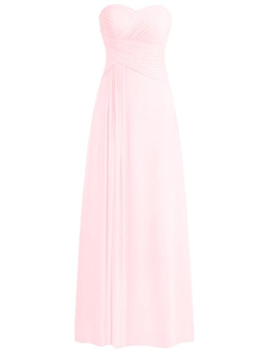 Evening Sweetheart Prom Party Dresses Formal Cdress Gowns Chiffon Pink Sleeveless xaCwBa1q