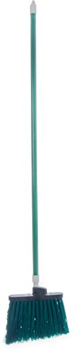 - Carlisle 4108309 Sparta Duo-Sweep Unflagged Angle Broom with Fiberglass Handle, 54