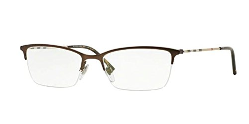 Burberry Eyeglasses BE1278 1012 Matte Brown 53 17 - Burberry Eyeglasses Womens