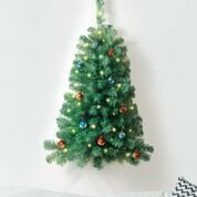 IdeaWorks Wall Mounted Christmas Tree, Lighted, and 3 Feet Tall
