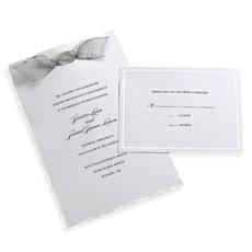 Gartner Studios Invite Kit, White Silver Deckled Edge, 50-count