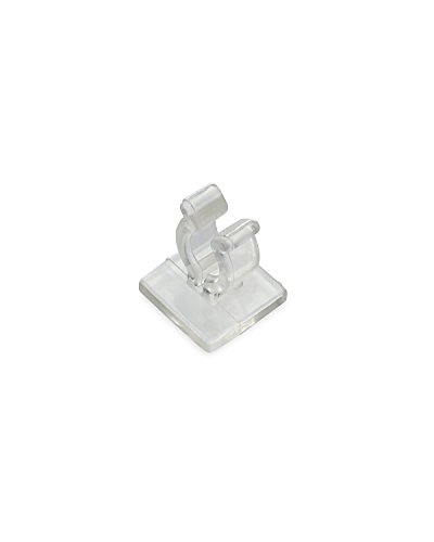 Holiday Lighting Outlet Mini Light Adhesive, Used in Outlining Window for Christmas, Pack of 100 Clips, Commercial Grade - Mini Light Adhesive Clip