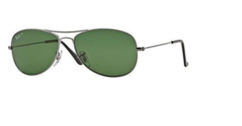 Ray Ban RB3362 COCKPIT 004/58 59M Gunmetal/Crystal Green Polarized Sunglasses For Men For ()