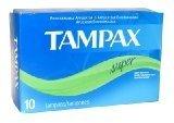TSN Tampax Tampons Super, 10 ct