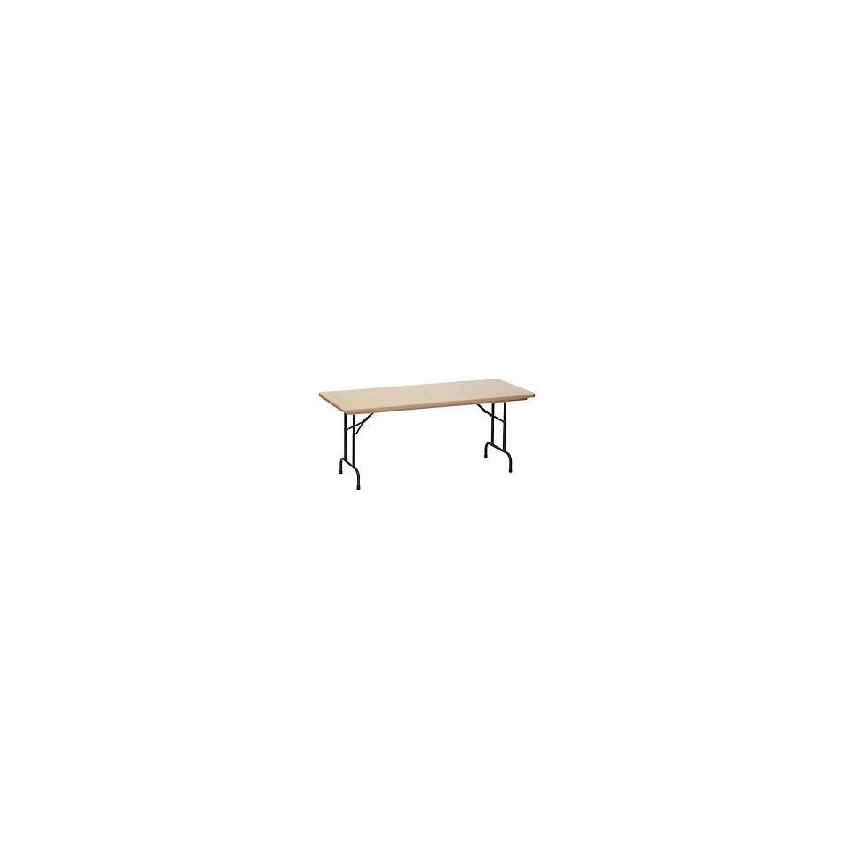 Blow Molded Commercial Duty Folding Table 24 X 48, Mocha Granite