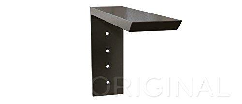 Shelf L Bracket 8Hx6V Black