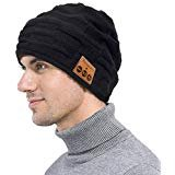Wireless Bluetooth Beanie, Ranger5 Smart Music Knit Winter Hat with Speaker Mic for Fitness Outdoor Sports, Black